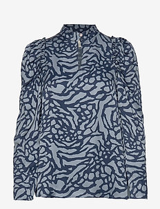 EILAN - long sleeved blouses - blue