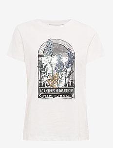 Elliot - bedrukte t-shirts - ivory