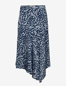 Everly - midi skirts - blue