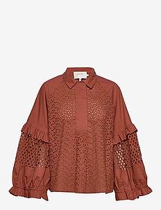 MELT - blouses med lange mouwen - rust