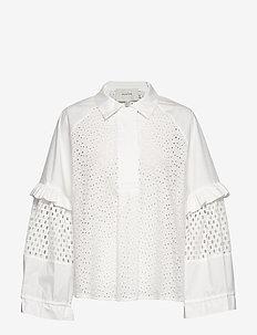 MELT - blouses med lange mouwen - white