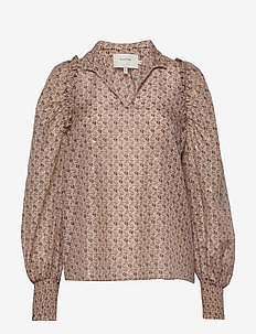 MAKAYA - long sleeved blouses - beige
