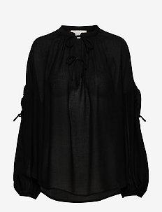 METER - langærmede bluser - black