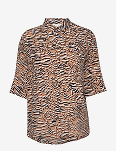 MATE - short-sleeved blouses - caramel