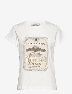 MAZUS - bedrukte t-shirts - white