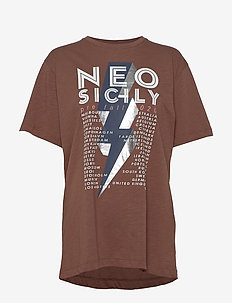 MIDDLE - printed t-shirts - brown