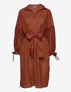 MEDIA - robes chemises - rust