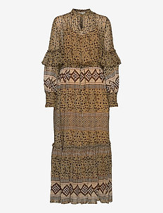 MITELLA - midi kjoler - sienna
