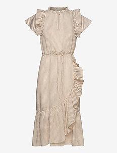 MODERATE - slå-om-kjoler - beige