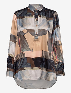 LENSE - blouses med lange mouwen - nature