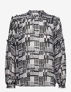 LAZULIS - blouses med lange mouwen - grey