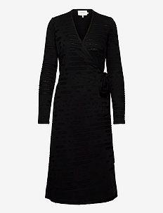LAGUNA - wikkel jurken - black