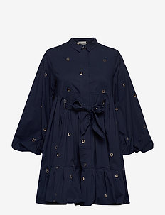 LUDA - robes chemises - indigo