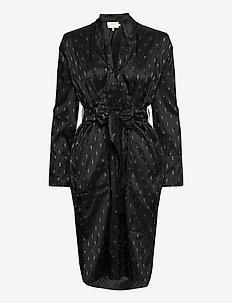 LAKE - slå-om-kjoler - black