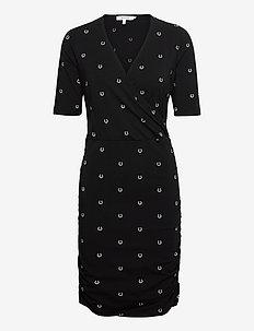 LISIA - wikkel jurken - black