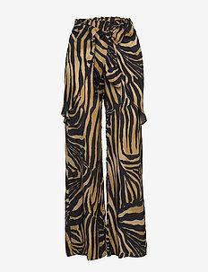 Ulrik - bukser med brede ben - yellow