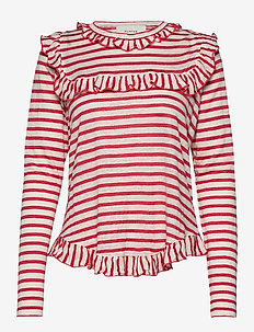 YES - striped t-shirts - red
