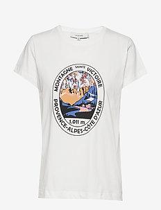 YLVA - t-shirts med tryk - white