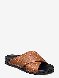 TUMERIC - flade sandaler - camel