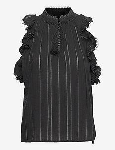 PARRAL - ermeløse bluser - black