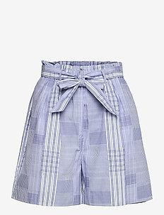 FIFI - paper bag shorts - blue
