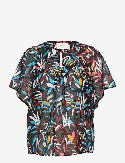 PAIGE - blouses à manches courtes - black
