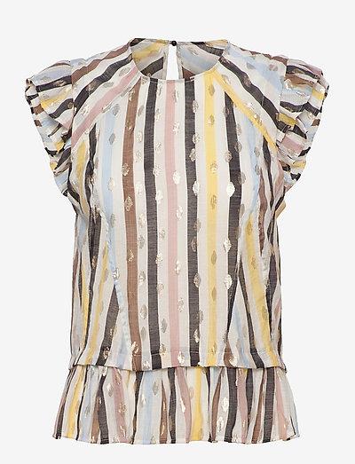 PALU - short-sleeved blouses - white