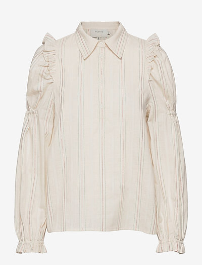 PASAY - long sleeved blouses - ivory