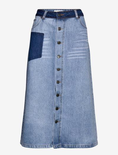 RALLY - midi skirts - blue