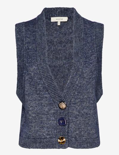 ROWLAND - vestes tricot - indigo