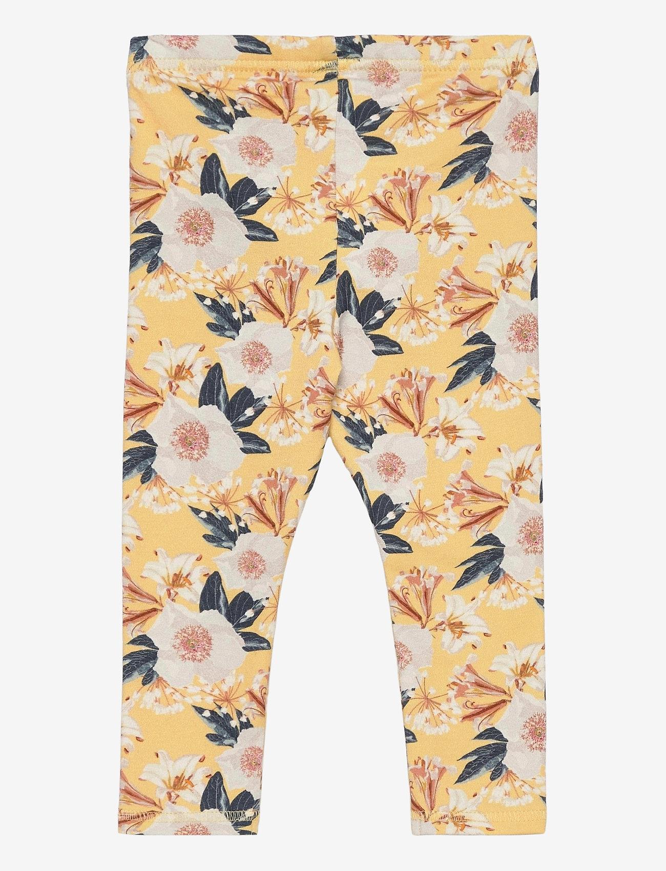 Müsli by Green Cotton - Bloom leggings baby - trousers - sun - 1