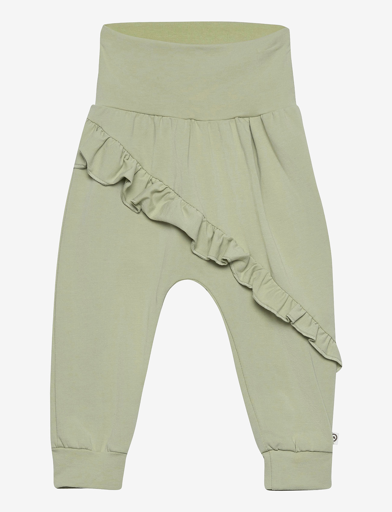 Müsli by Green Cotton - Cozy me frill pants - trousers - pale moss - 0