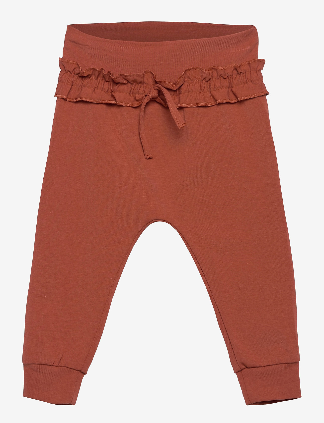 Müsli by Green Cotton - Cozy me string pants - trousers - russet - 0