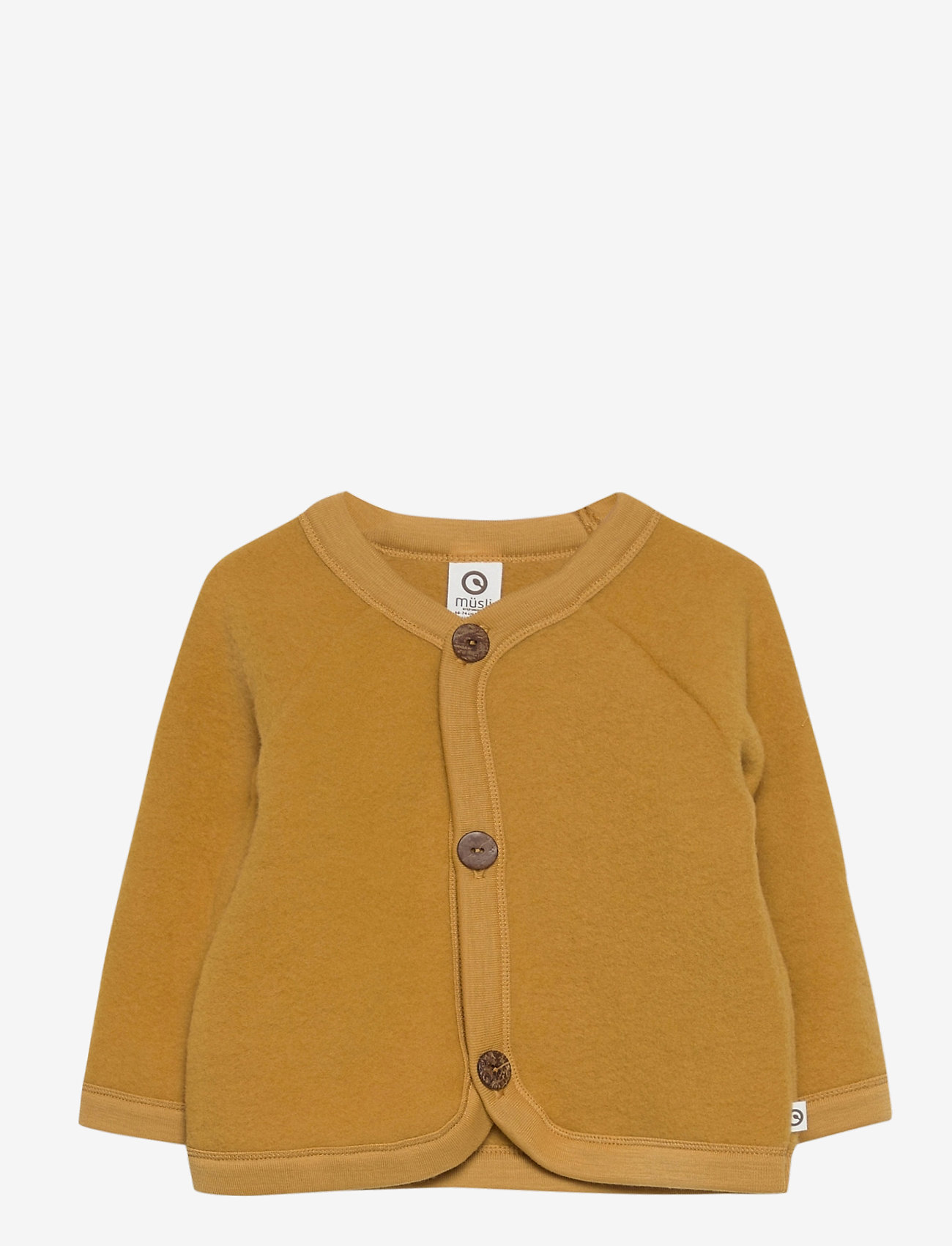 Müsli by Green Cotton - Woolly fleece jacket baby - gilets - wood - 0