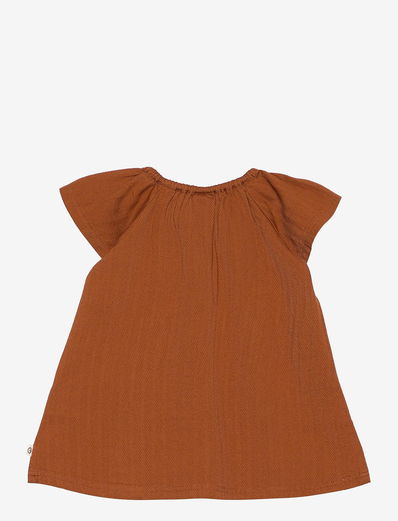 Müsli by Green Cotton - Woven dress - kleider - ocher - 1