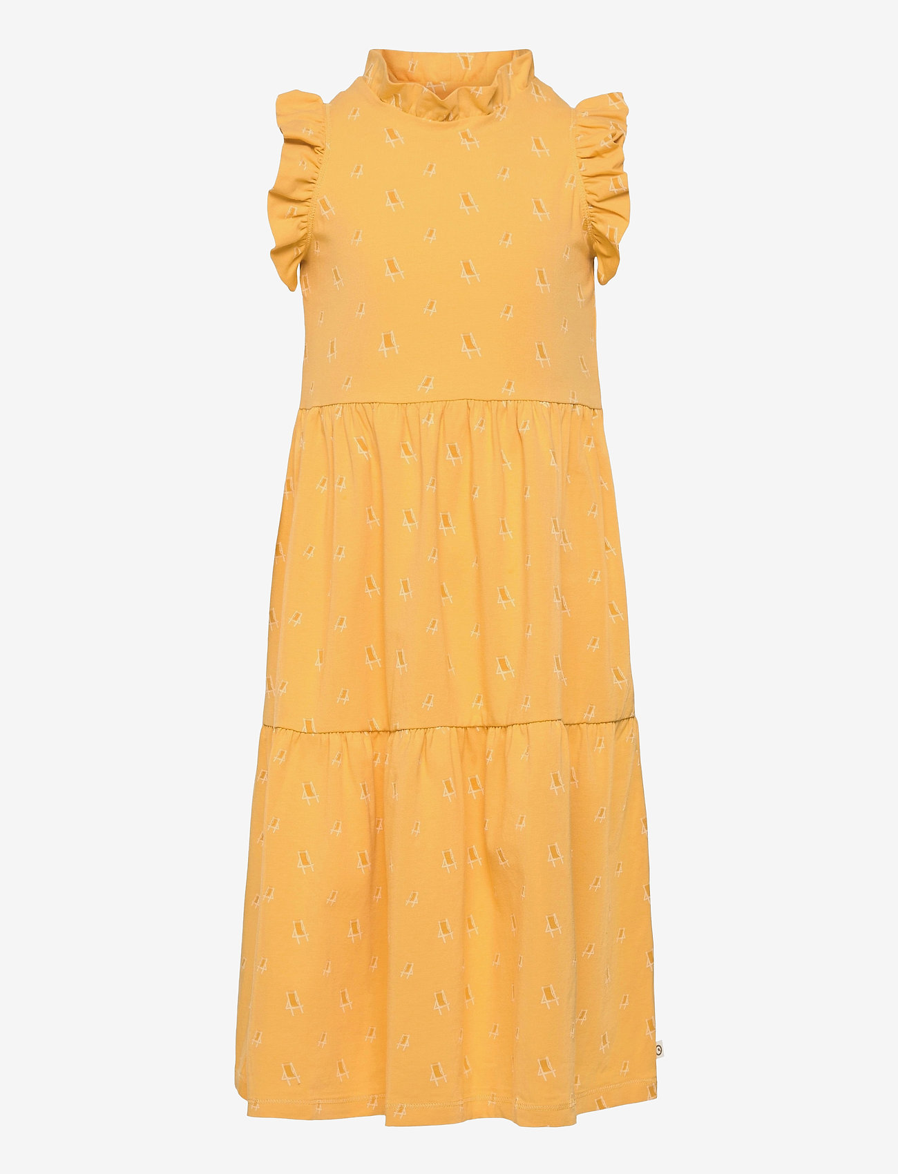 Müsli by Green Cotton - Sunbed frill shoulder dress - kleider - sun - 0