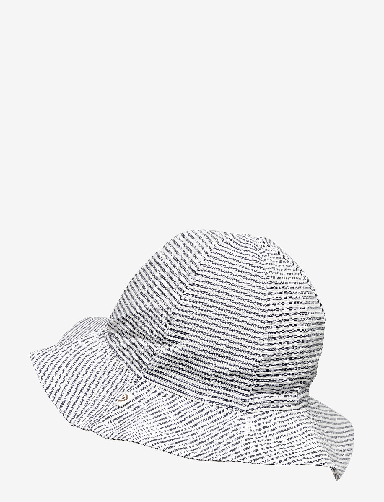 Müsli by Green Cotton - Woven stripe beach hat - huer & kasketter - white/blue stripe - 1
