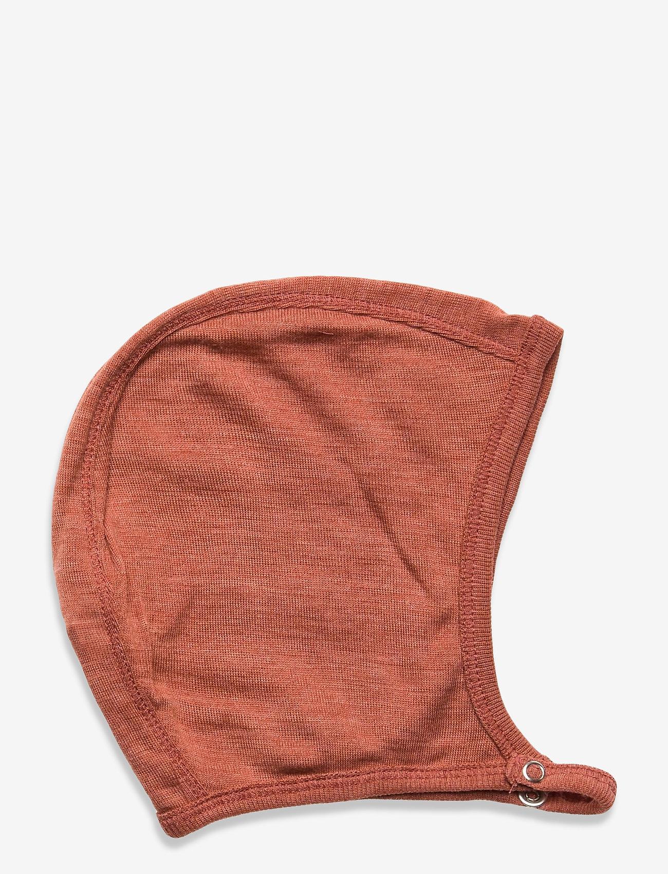 Müsli by Green Cotton - Woolly silk hat baby - huer - russet - 0