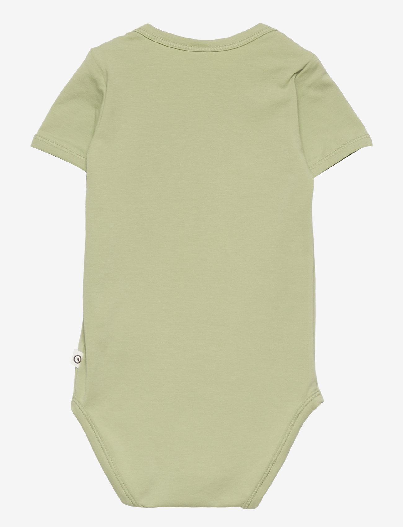 Müsli by Green Cotton - Cozy me s/sl body - kurzärmelige - pale moss - 1