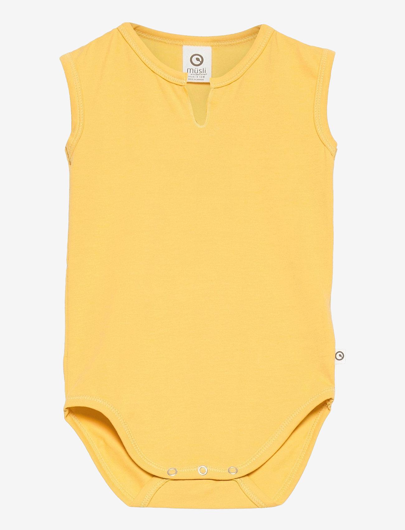 Müsli by Green Cotton - Cozy me sleeveless body - kurzärmelige - sun - 0