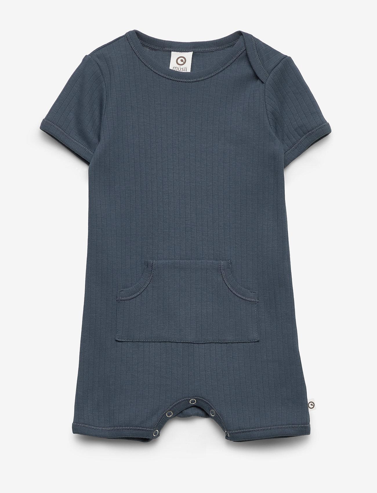 Müsli by Green Cotton - Cozy pocket beach body - kurzärmelig - midnight - 0