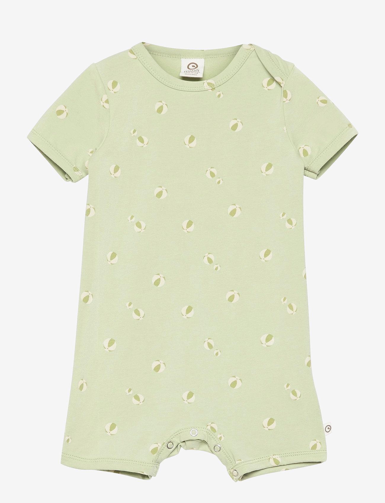 Müsli by Green Cotton - Beachball beach body - kurzärmelig - pale moss - 0