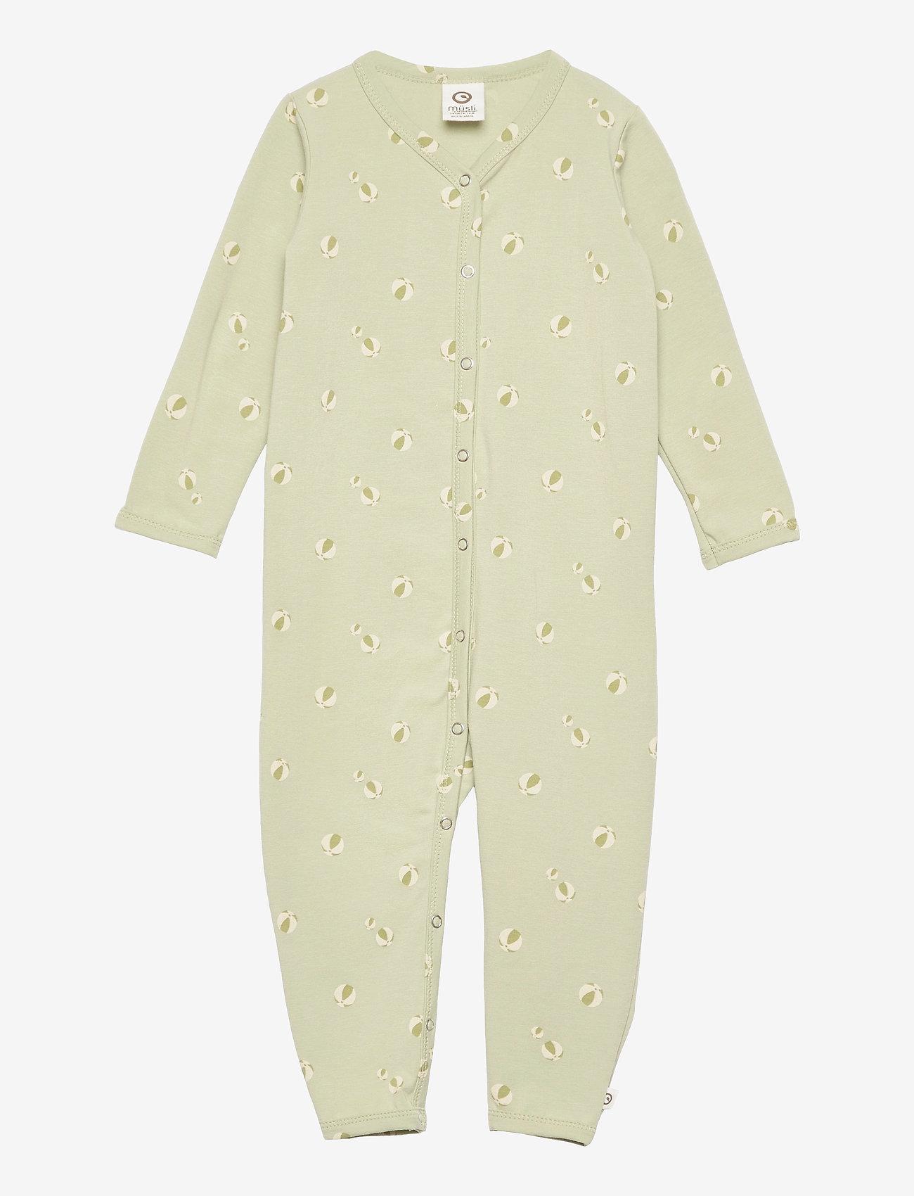 Müsli by Green Cotton - Beachball bodysuit - langärmelig - pale moss - 0
