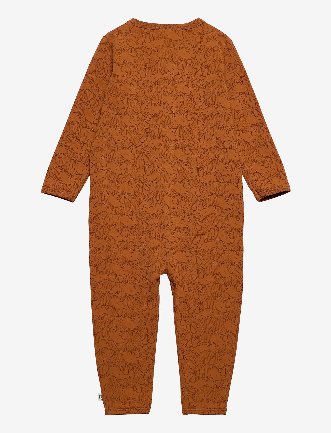 Müsli by Green Cotton - Rhino bodysuit - langärmelig - ocher - 1