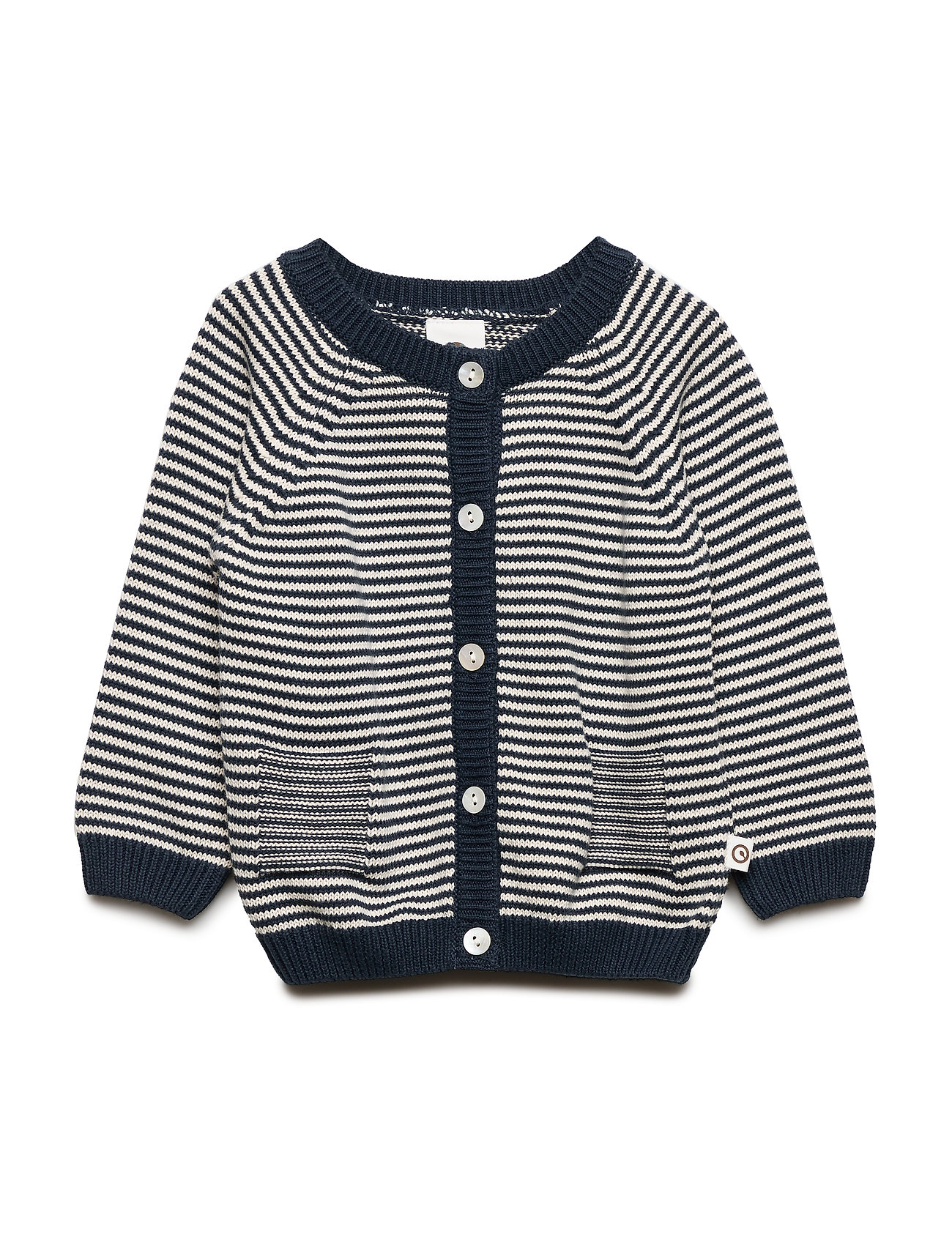 Müsli by Green Cotton Knit stripe cardigan baby - MIDNIGHT