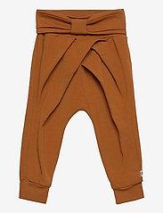 Müsli by Green Cotton - Cozy me bow pants - trousers - ocher - 0