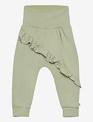 Cozy me frill pants - PALE MOSS