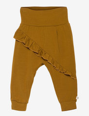 Müsli by Green Cotton - Cozy me frill pants - trousers - pesto - 0