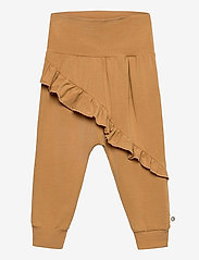 Müsli by Green Cotton - Cozy me frill pants - trousers - toffee - 0