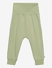 Müsli by Green Cotton - Cozy me pants - trousers - pale moss - 0